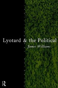 The cover of Lyotard and the Political